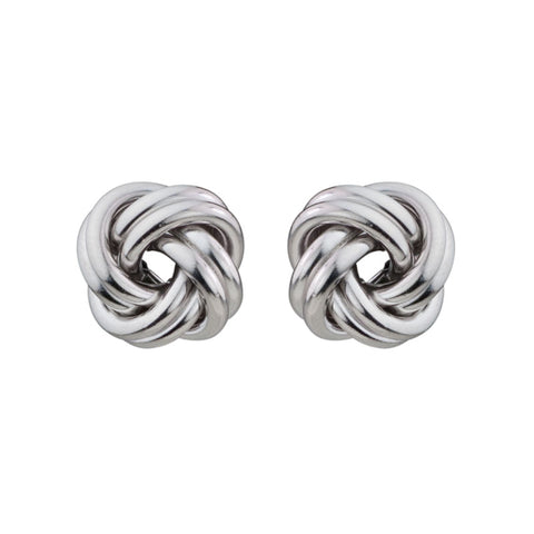 Sterling Silver Love Knot Stud Earrings - Silverscape Designs