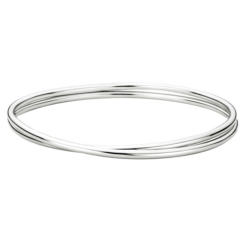 Sterling Silver Intertwined Tube Bangle Bracelet - Silverscape Designs