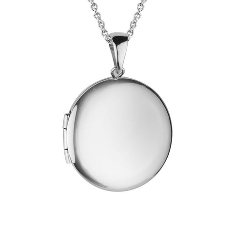 Sterling Silver 4 Picture Oval Locket - Silverscape Designs