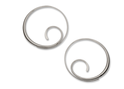 Scrolling Hoop Earrings - Silverscape Designs
