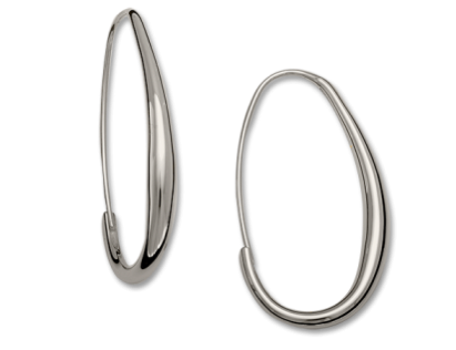 Oval Hoop Earrings