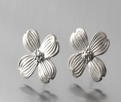 Sterling Silver Mini Dogwood Post Earrings