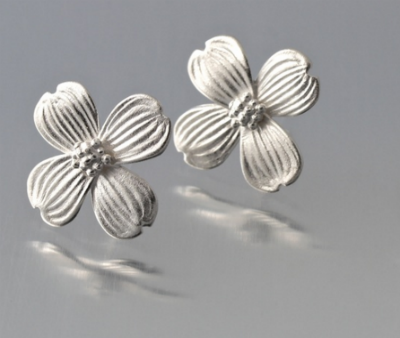Sterling Silver Dogwood Post Earrings