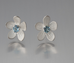 Sterling Silver Blue Topaz Apple Blossom Earrings - Silverscape Designs