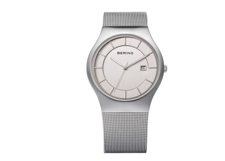 Men's Milanese Silver Watch