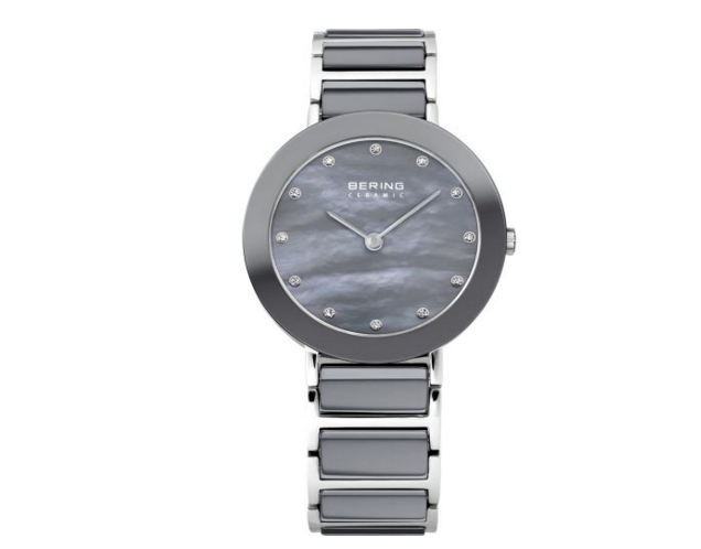 Women's Stainless Steel Ceramic Silver Watch