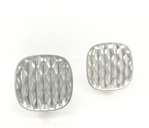 Square Desert Wave Earring - Silverscape Designs