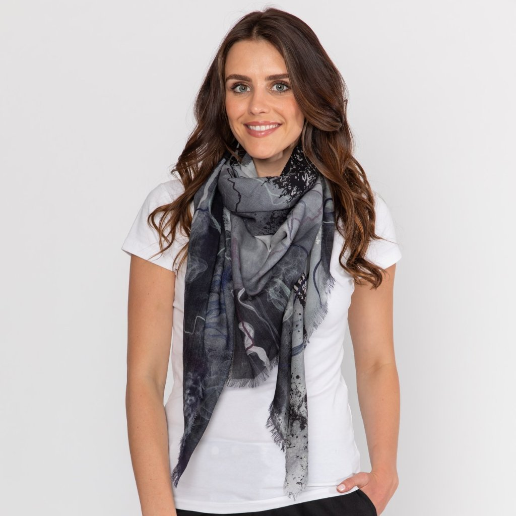 Smoke and Mirrors Merino Wool Scarf
