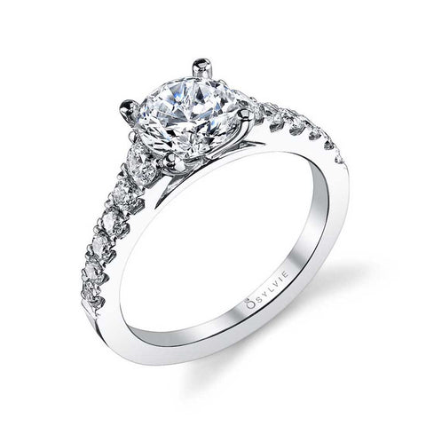 Classic Diamond White Gold Engagement Ring - Silverscape Designs