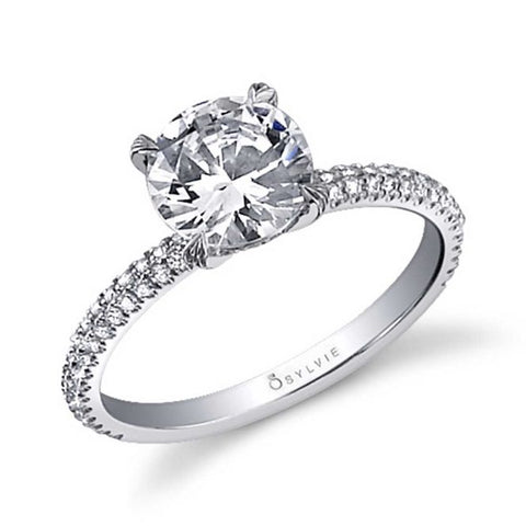 Classic Diamond White Gold Solitaire Engagement Ring - Silverscape Designs