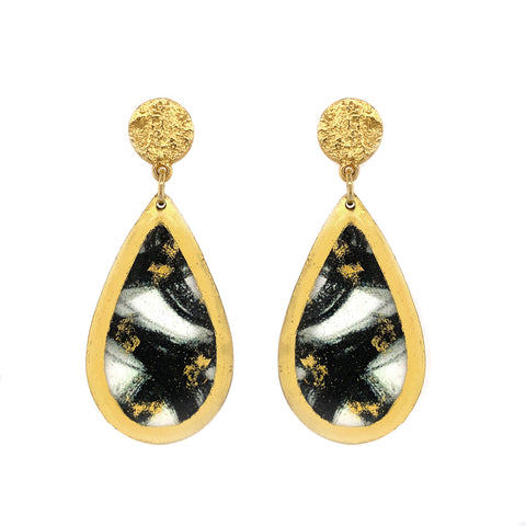 Evocateur Unteathered Medium Teardrop Earrings