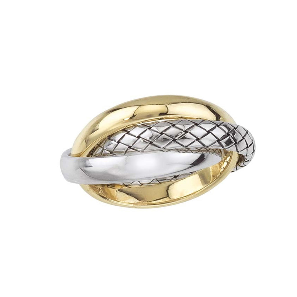 Two Toned Intertwined Rings
