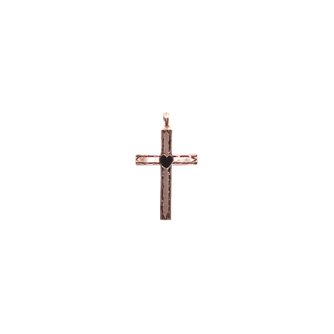 Estate 14K Cross Pendant with Heart