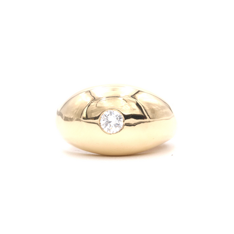 Vintage Gent's Dome Style Diamond Ring - Silverscape Designs