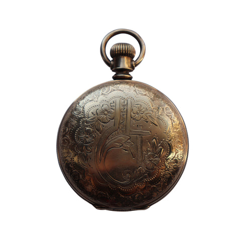 Antique Elgin Pocket Watch With Gold Filled Double Hunter Case c. 1889 - Silverscape Designs