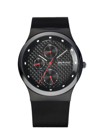 Men's Black & Red Watch