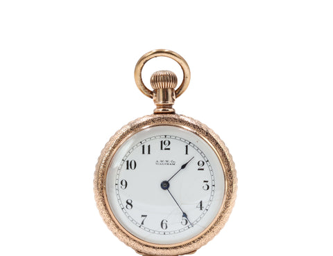 Men's Engraved Waltham Pocket Watch - Silverscape Designs
