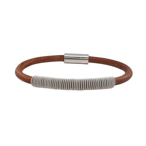 Wound Up Leather Bracelet
