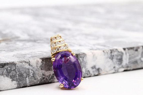 Vintage Amethyst & Diamond Enhancer