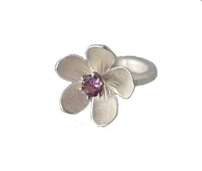 EAM Sterling Silver Apple Blossom Ring (2 stone options)
