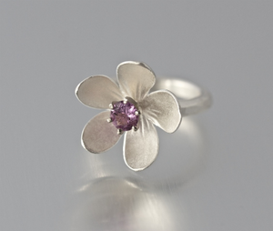 Sterling Silver Apple Blossom Ring