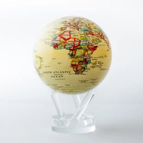 Antique Beige MOVA Globe - Silverscape Designs