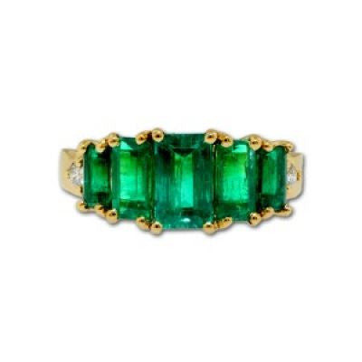 Emerald Stepped Design Ring
