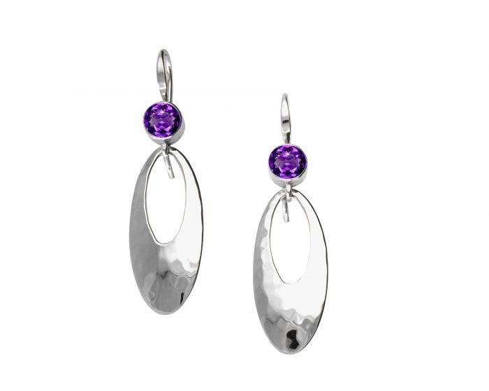 Cleo Earrings Amethyst Ed Levin