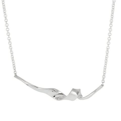 Ed Levin Sterling Silver Corckscrew Necklace
