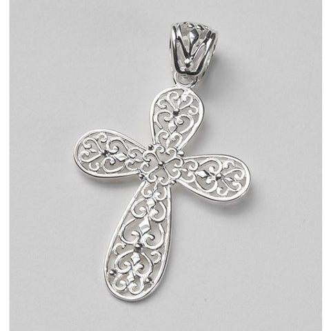 Southern Gates Small Filigree Cross Pendant - Silverscape Designs