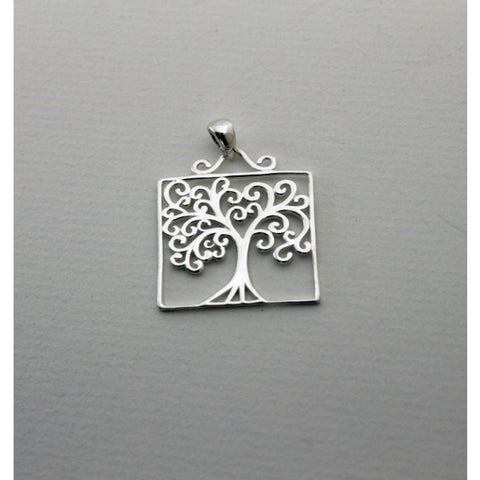 Southern Gates Medium Square Oak Tree Pendant