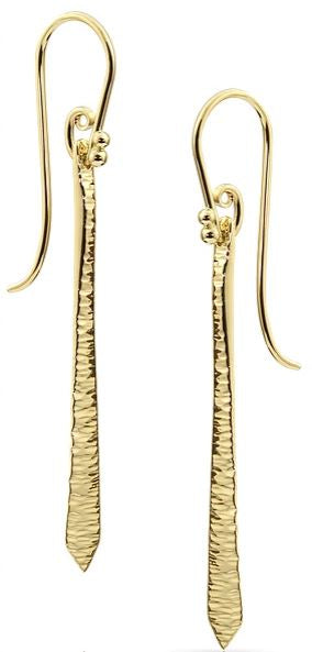 Sharon freeman hammered drop earrings