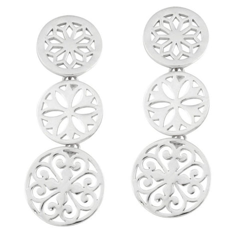 Southern Gates Triple Dangle Post Earrings