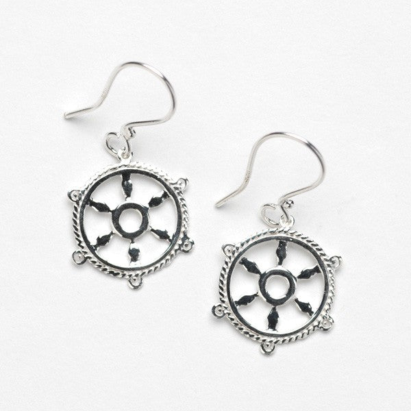 Southern Gates Ship Wheel Earring