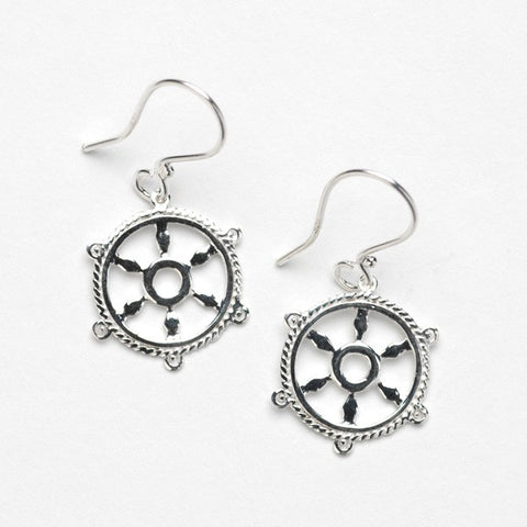 Southern Gates Ship Wheel Earring - Silverscape Designs