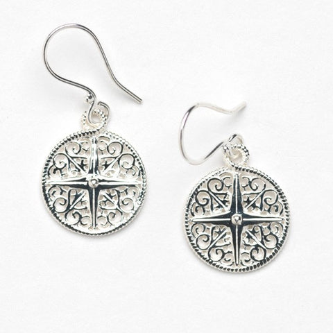 Southern Gates Compass Earring - Silverscape Designs