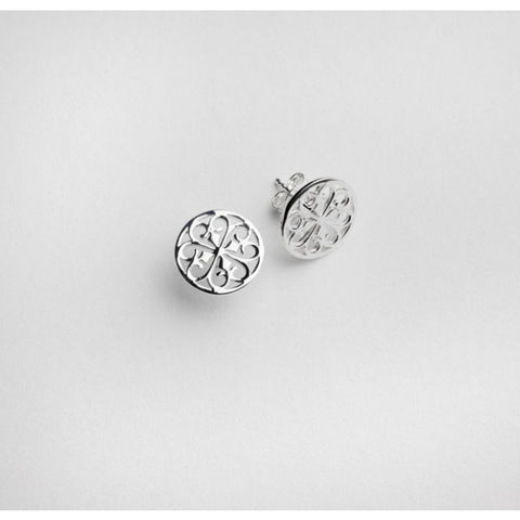 Southern Gates Round Scroll Stud Post Earring - Silverscape Designs