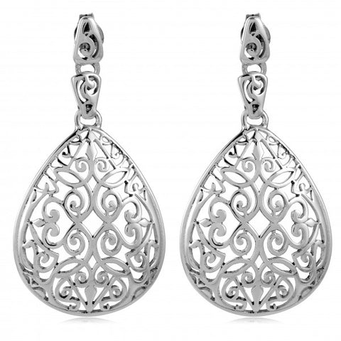 Southern Gates Teardrop Dangle Post Earrings - Silverscape Designs