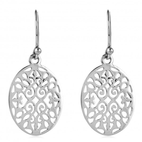 Southern Gates Small Oval Scroll Earrings - Silverscape Designs