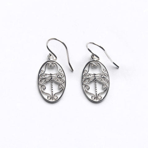 Southern Gates Small Dragonfly Earring - Silverscape Designs