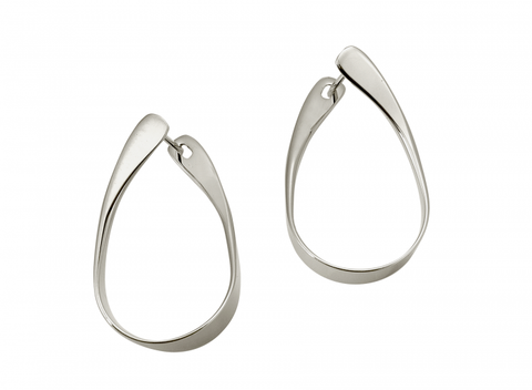 Sterling Silver Rhythmic Hoop Earring - Silverscape Designs