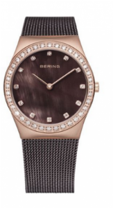 Women's Brown & Rose Gold Stainless Steel Watch