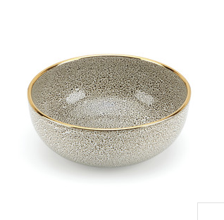 Panthera White Gold Medium Bowl
