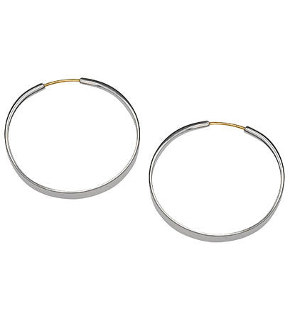 Forged Hoops - Silverscape Designs