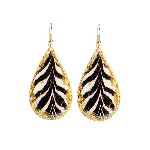 Evocateur Zambia Zebra Earrings