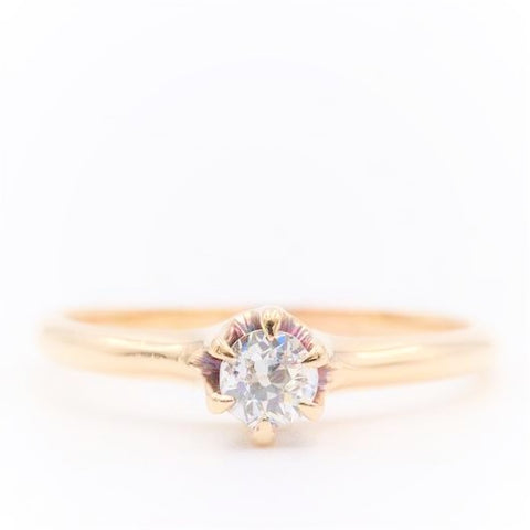 Classic Petite Round Brilliant Diamond Engagement Ring