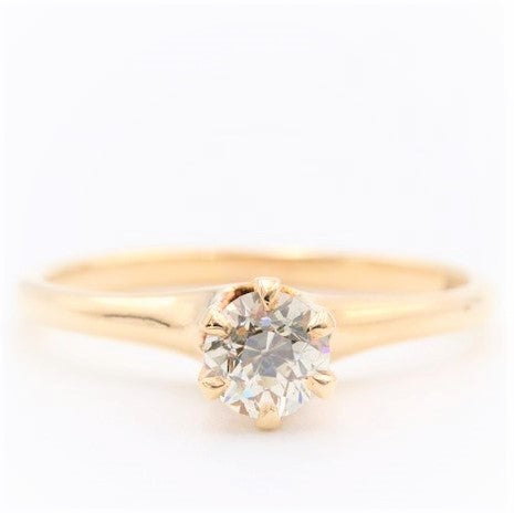 Classic Estate Diamond Solitaire Engagement Ring