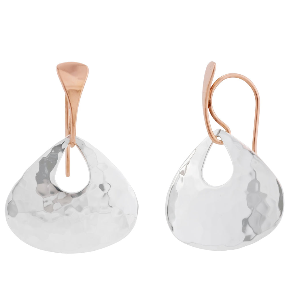Ed Levin Sterling Silver and 14k Rose Gold Jamaica Earrings