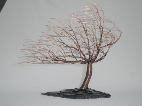 Copper Patina Wind Swept Tree (Medium)