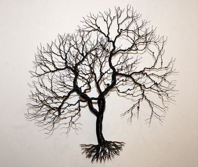 Randy Adams Small Black Aluminum Live Oak Wall Tree